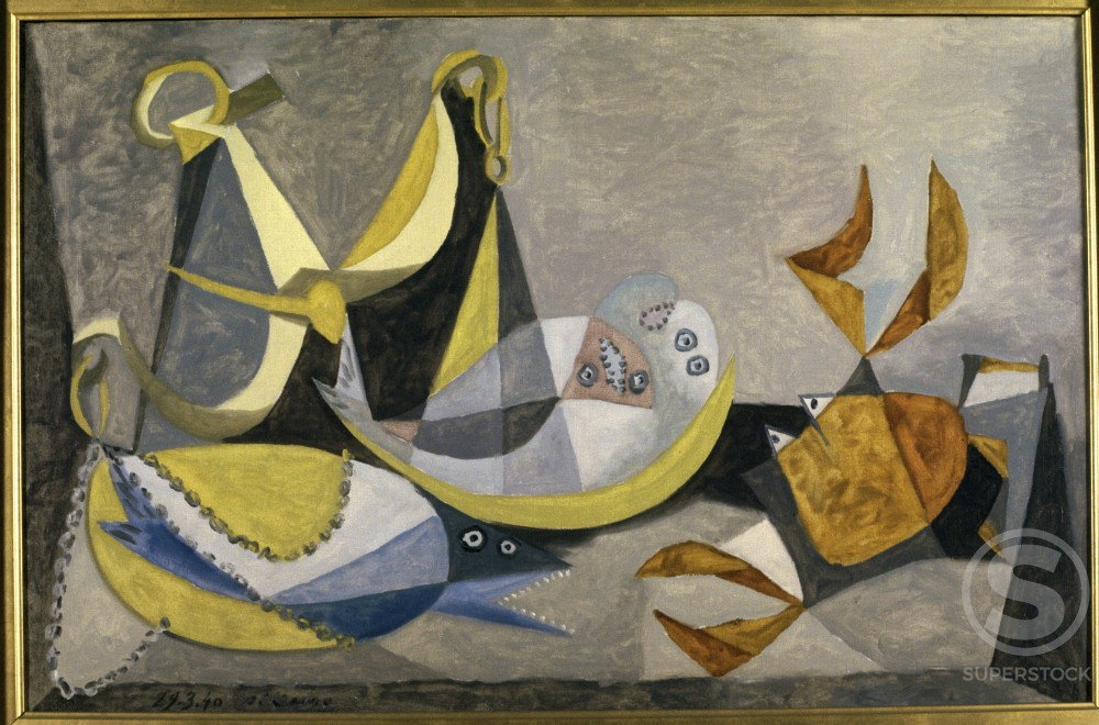 Sole by Pablo Picasso, Oil painting, 29 March 1940, 1881-1973 : Stock Photo