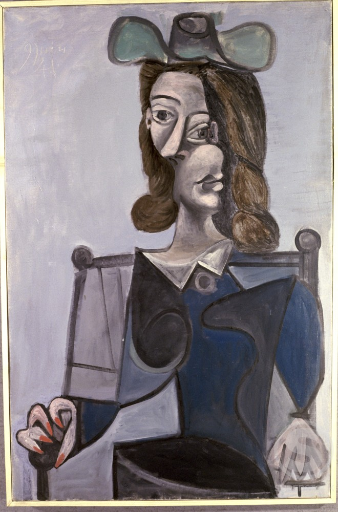 Stock Photo: 1330-1125 Bust Of Woman In Hat by Pablo Picasso, Oil painting, 8 June 1941, 1881-1973