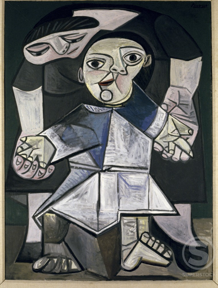 Stock Photo: 1330-1126 First Steps by Pablo Picasso, Oil painting, 21 May 1943, 1881-1973, USA, Connecticut, New Haven, Yale University Art Gallery
