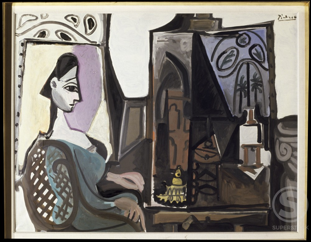Stock Photo: 1330-1147 Studio by Pablo Picasso, Oil painting, 2 April 1956, 1881-1973