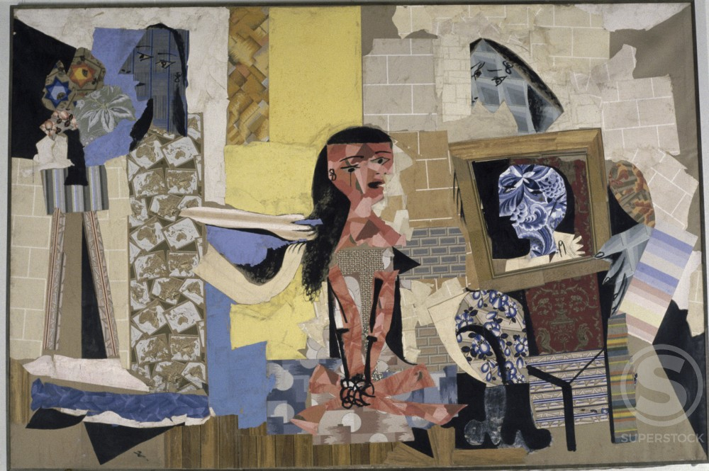 Stock Photo: 1330-1157 Women at Their Toilette by Pablo Picasso, Gouache and paper collage, 1938, 1881-1973, France, Paris, Musee Picasso