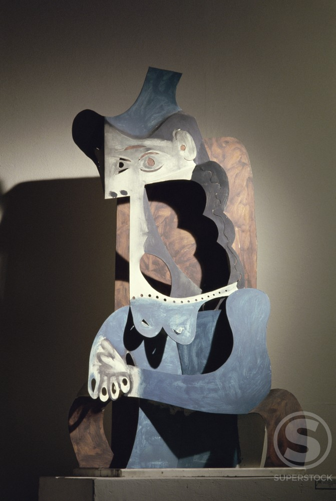 Stock Photo: 1330-1165 Woman With Hat by Pablo Picasso, sheet metal, 1963, 1881-1973