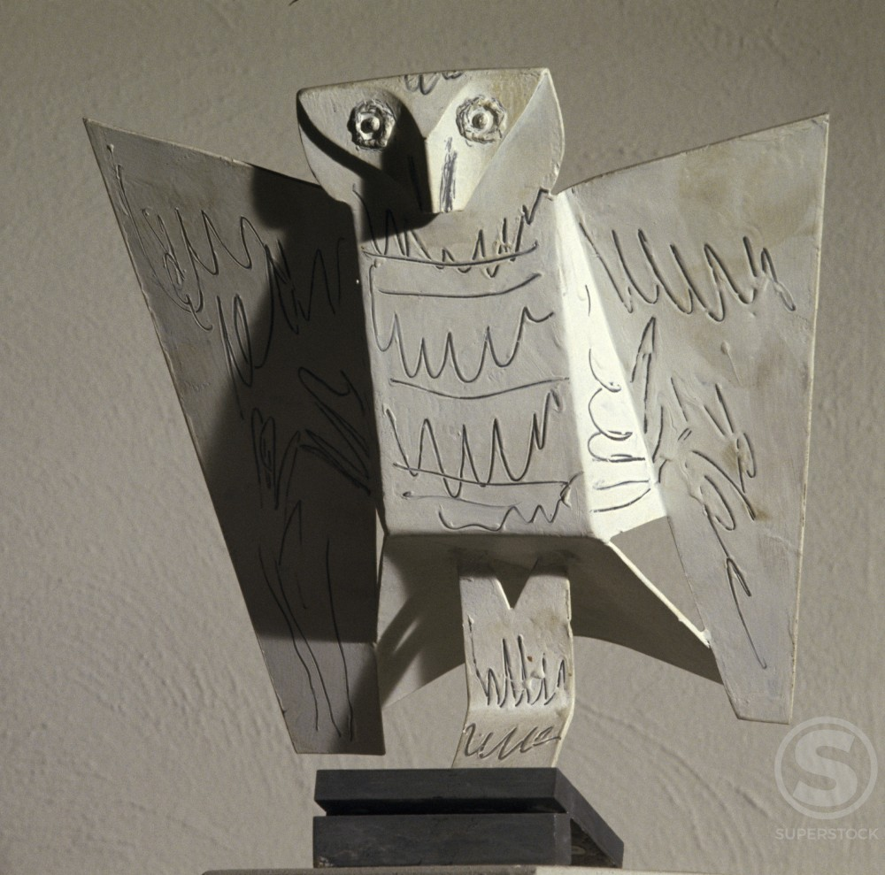Stock Photo: 1330-1189 Owl by Pablo Picasso, Sheet metal, 1961, 1881-1973