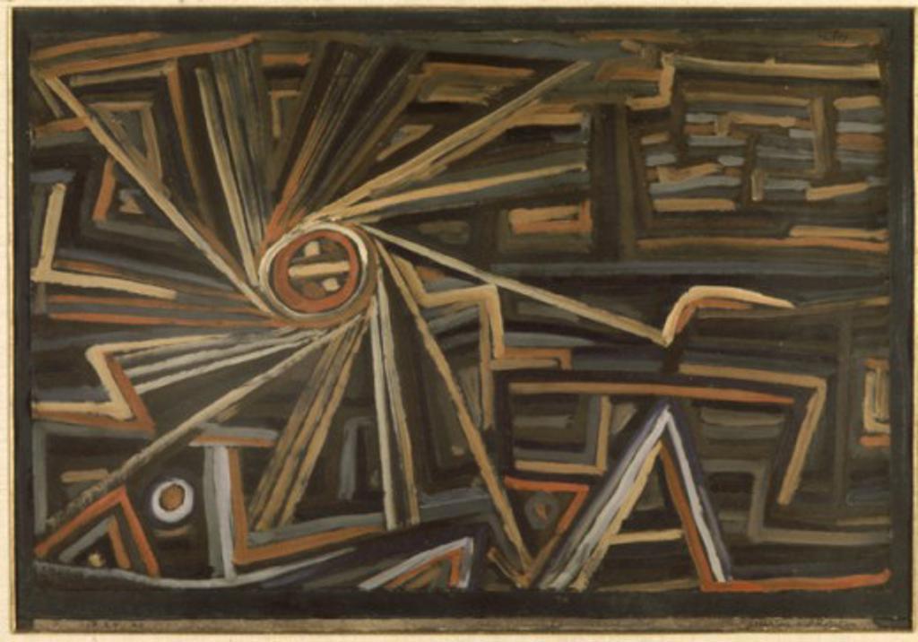 Stock Photo: 1330-1223 Radius & Rotation 1924 Paul Klee (1879-1940/Swiss) Oil on canvas