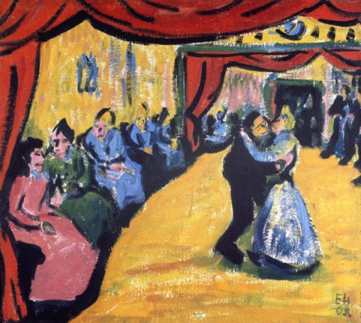 Stock Photo: 1330-1236 Village Dance by Erich Heckel, 1908, 1883-1970, Germany, Berlin, Staatliche Museen