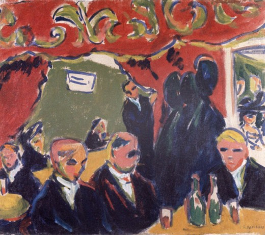 Stock Photo: 1330-1246 Tavern by Ernst Ludwig Kirchner, 1909, 1880-1938, USA, Missouri, St. Louis, Morton May Collection