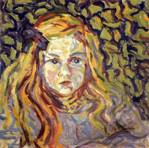 Stock Photo: 1330-1250 Head Of A Child by Ernst Ludwig Kirchner, 1906, 1880-1938