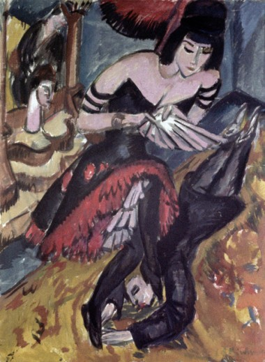 Dancers by Ernst Ludwig Kirchner, 1912, 1880 -1938, Germany, Stuttgart, Private Collection : Stock Photo