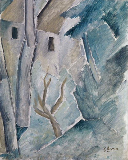 Stock Photo: 1330-1254 Cubist Landscape by Georges Braque, 1909, 1882-1963, France, Paris, Centre Georges Pompidou, Musee National d' Art Moderne