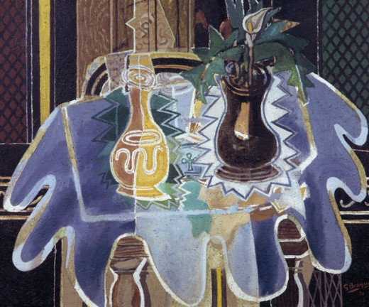Stock Photo: 1330-1263 The Blue Tablecloth by Georges Braque, 1938, 1882-1963, USA, New York, Private Collection