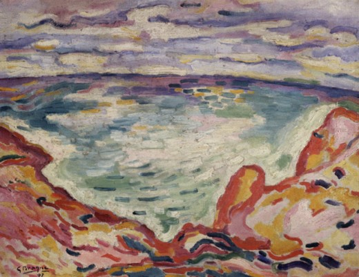 Stock Photo: 1330-1269 The Inlet by Georges Braque, 1907, 1882-1963, France, Paris, Private Collection