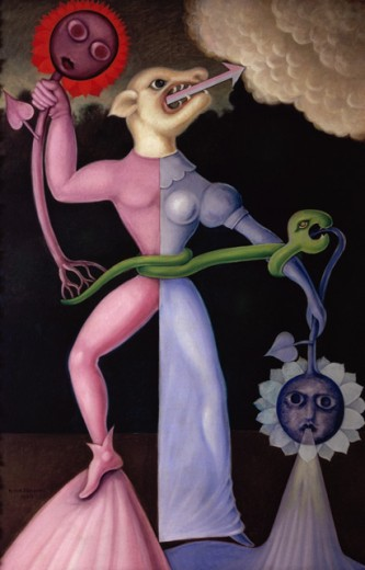 Stock Photo: 1330-1285 Birth Of Matter by Victor Brauner, 1960, 1903-1966, Galerie Iolas