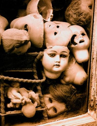 Stock Photo: 1334-153 Close-up of damaged dolls