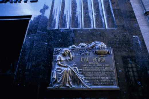 Eva Peron Tomb Recoleta Cemetery Buenos Aires Argentina : Stock Photo