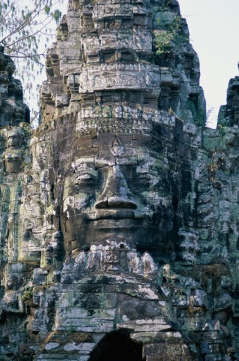 Stock Photo: 1336-923 Close-up of a temple, Angkor Wat, Angkor, Cambodia