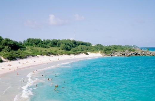 Horseshoe Bay Beach Bermuda : Stock Photo