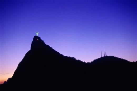 Mount Corcovado Rio de Janeiro Brazil   : Stock Photo