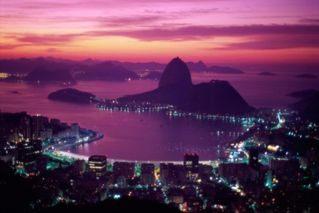Stock Photo: 1343-157B Sugar Loaf Mountain Guanabara Bay Rio de Janeiro Brazil