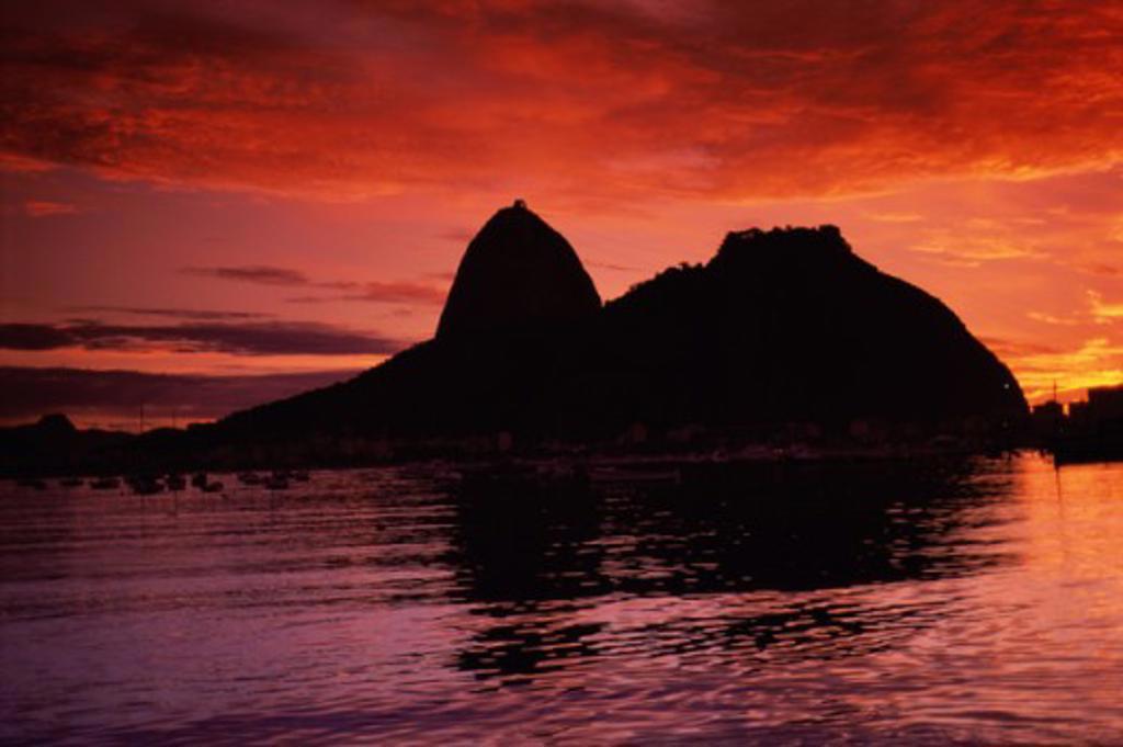 Stock Photo: 1343-224 Sugar Loaf Mountain Guanabara Bay Rio de Janeiro Brazil