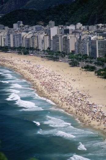 Stock Photo: 1343-225 Copacabana Beach Rio de Janeiro Brazil