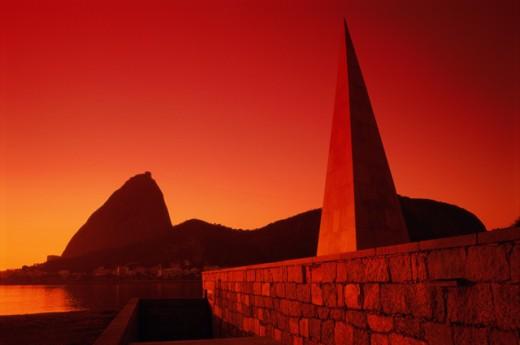 Stock Photo: 1343-281A Sugar Loaf Mountain Estacio de Sa Monument Rio de Janeiro Brazil