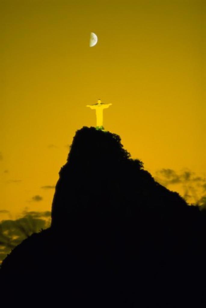 Christ the Redeemer Statue Mount Corcovado Rio de Janeiro Brazil  : Stock Photo