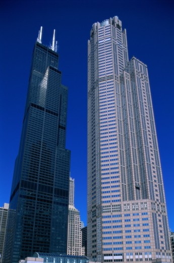 Stock Photo: 1343-355 Low angle view of the Sears Tower, Chicago, Illinois, USA