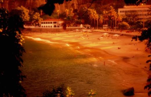 Red Beach Rio de Janeiro Brazil : Stock Photo