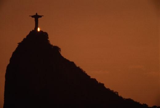 Christ the Redeemer Statue Mount Corcovado Rio de Janiero Brazil : Stock Photo