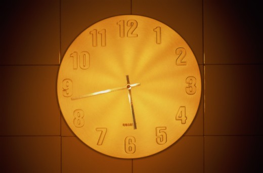 Stock Photo: 1343R-670 Close-up of a clock