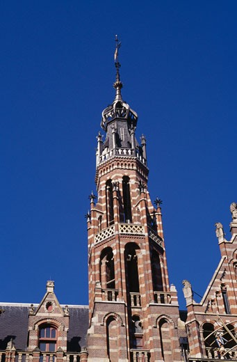Stock Photo: 1344-112 Low angle view of a tower, Magna Plaza, Amsterdam, Netherlands