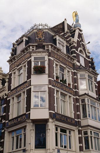 Stock Photo: 1344-113 Low angle view of a building, Singel, Amsterdam, Netherlands