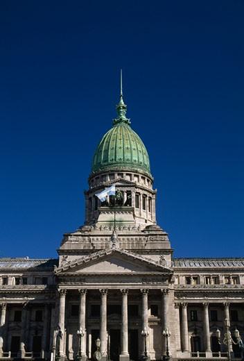 Facade of a government building, National Congress, Buenos Aires, Argentina : Stock Photo