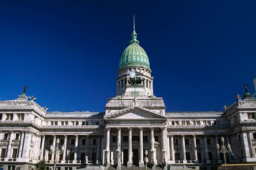 Facade of a government building, National Congress, Buenos Aires, Argentina : Stock Photo