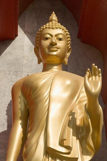 Close-up of a statue of Buddha, Wat Chalong, Phuket, Thailand : Stock Photo