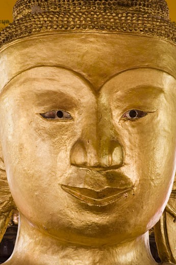 Stock Photo: 1344-1516B Close-up of a statue of Buddha, Wat Phra Thong, Phuket, Thailand
