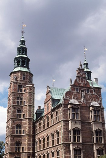 Low angle view of a castle, Rosenborg Castle, Copenhagen, Denmark : Stock Photo