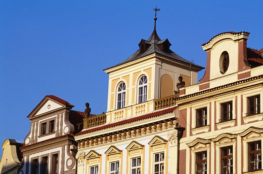 Low angle view of buildings, Old Town Square, Prague, Czech Republic : Stock Photo