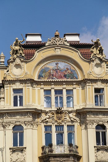 Low angle view of a building, Old Town Square, Prague, Czech Republic : Stock Photo