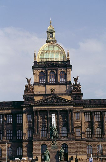 Stock Photo: 1344-463 Facade of a museum, National Museum, Wenceslas Square, Prague, Czech Republic