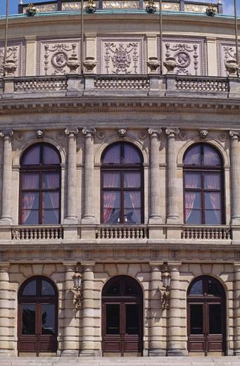 Stock Photo: 1344-490 Low angle view of a building, Rudolfinum, Prague, Czech Republic