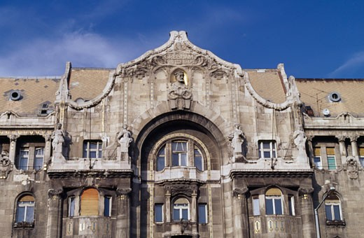 Facade of a hotel, Four Seasons Hotel Gresham Palace, Budapest, Hungary : Stock Photo