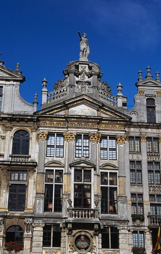Low angle view of a building, Grand Place, Brussels, Belgium : Stock Photo