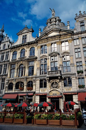 Stock Photo: 1344-805B Facade of the Grand Place, Brussels, Belgium