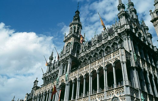 Stock Photo: 1344-808 Low angle view of a palace, King's House (Maison du Roi), Grand Place, Brussels, Belgium