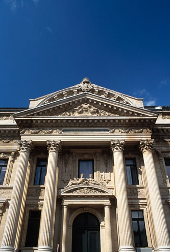 Stock Photo: 1344-811 Low angle view of a financial building, Stock Exchange, Brussels, Belgium