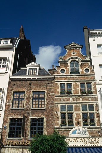 Stock Photo: 1344-815 Low angle view of buildings, Grand Sablon Square, Brussels, Belgium