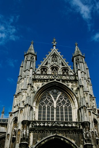 Church of Notre Dame du Sablon, Brussels, Belgium : Stock Photo