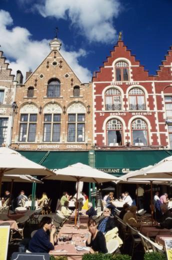 Stock Photo: 1344-826 People at Grote Market, Brugge, Belgium