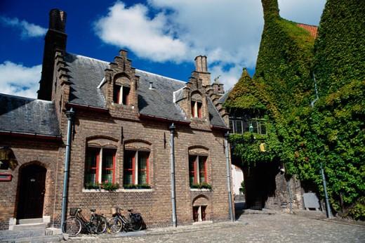 Stock Photo: 1344-829 Facade of a house, Brugge, Belgium